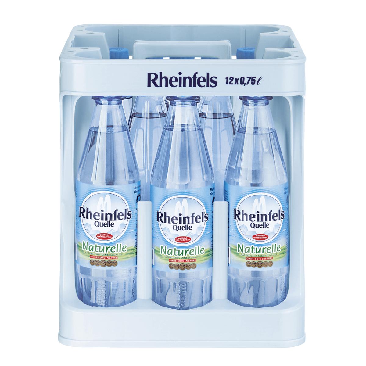 Rheinfels Quelle Naturelle 12 x 0,75L | Wasser | Alkoholfreie ...