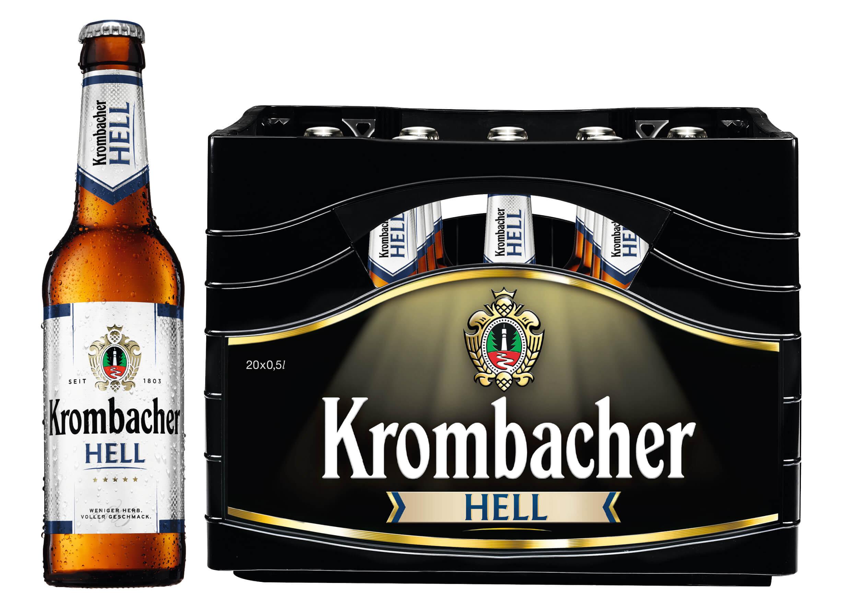 Krombacher Hell 20 X 05l Hell Bier Sortiment Trinkgut