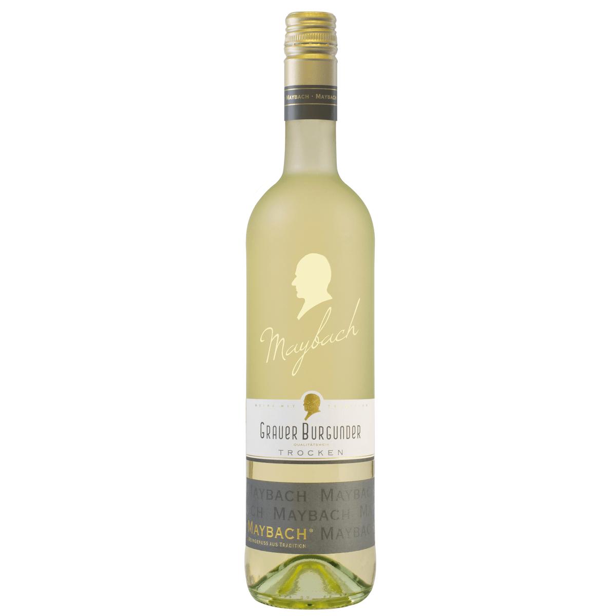 maybach grauer burgunder qba trocken 0,75l   weißwein   wein