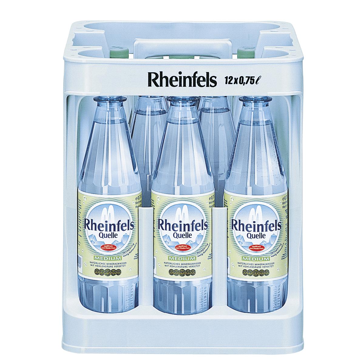 Rheinfels Quelle Medium 12 x 0,75L   Wasser   Alkoholfreie Getränke ...