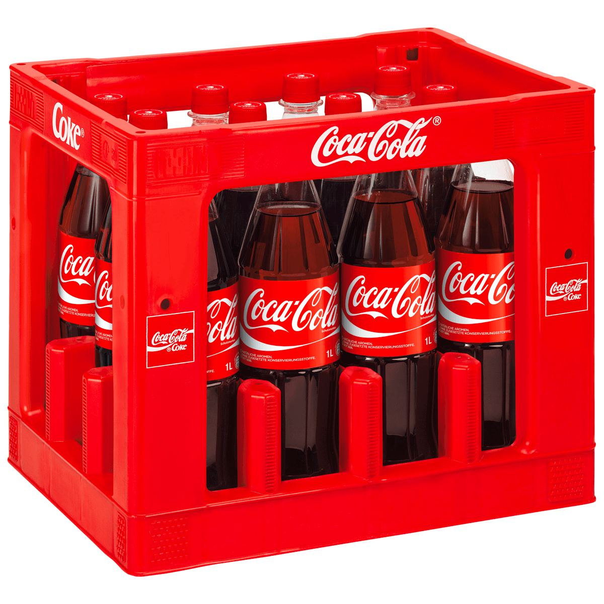 coca cola 12 x 1l cola limonaden co alkoholfreie getr nke sortiment trinkgut. Black Bedroom Furniture Sets. Home Design Ideas