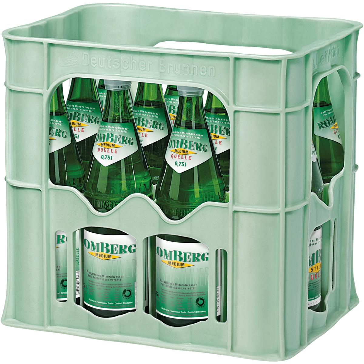 romberg quelle still 12 x 0 75l wasser alkoholfreie. Black Bedroom Furniture Sets. Home Design Ideas