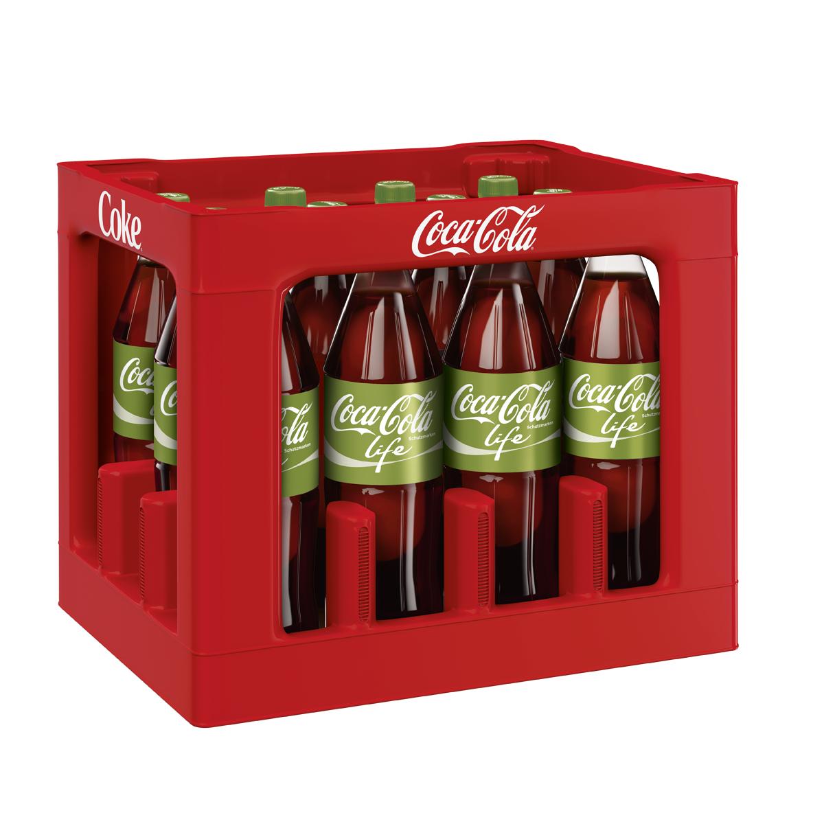 Coca Cola Life 12 x 1L | Cola, Limonaden & Co | Alkoholfreie ...