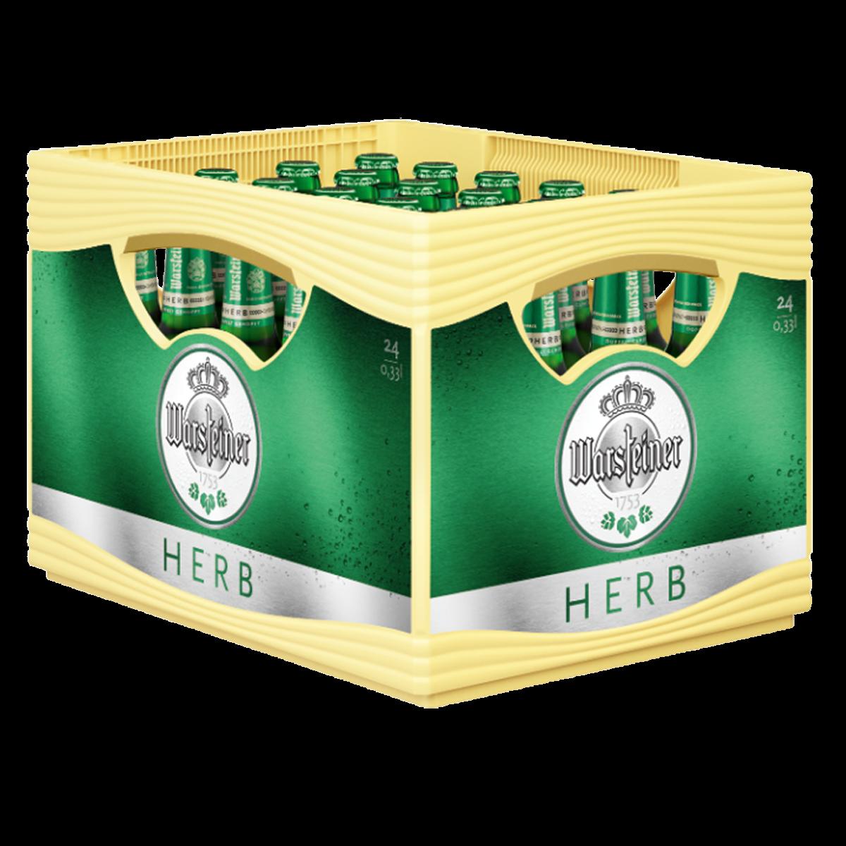 Warsteiner Herb 24 X 033l Pils Bier Sortiment Trinkgut